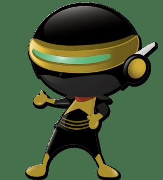 Ninja Mascote Desentupidora